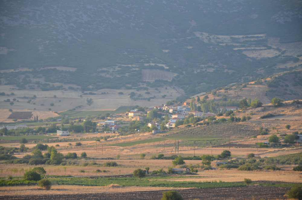 view of village of exarchos from st. nicholas church