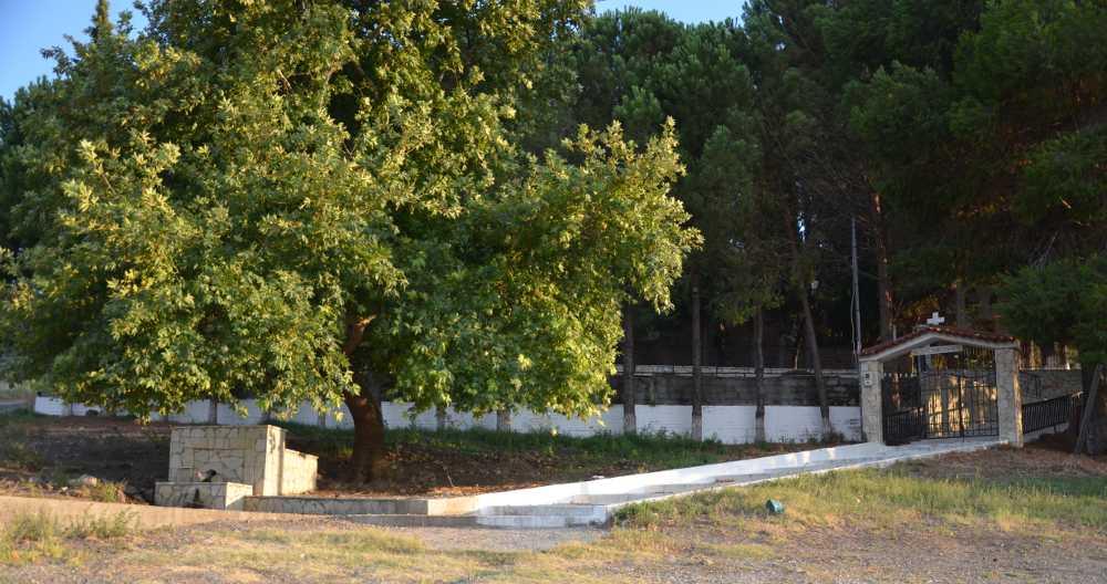 perimeter of st. nicholas church, exarchos, greece